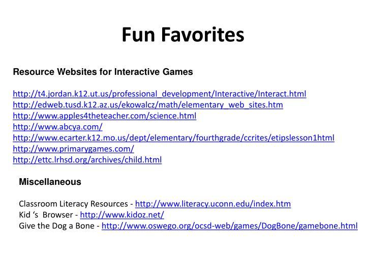 Fun Favorites