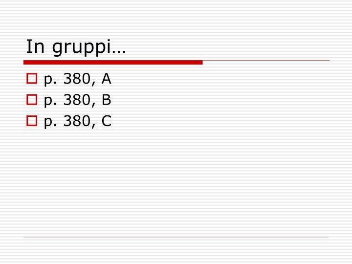 In gruppi…