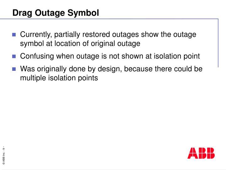 Drag Outage Symbol