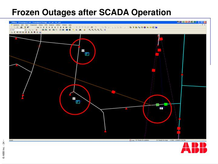 Frozen Outages after SCADA Operation