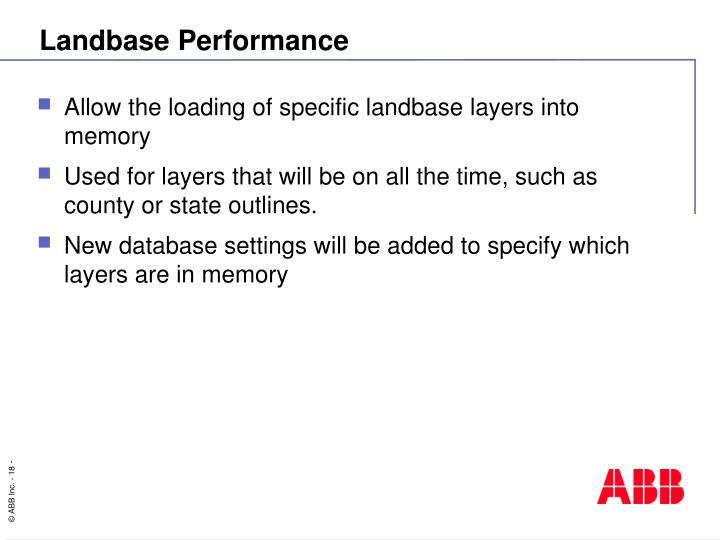 Landbase Performance