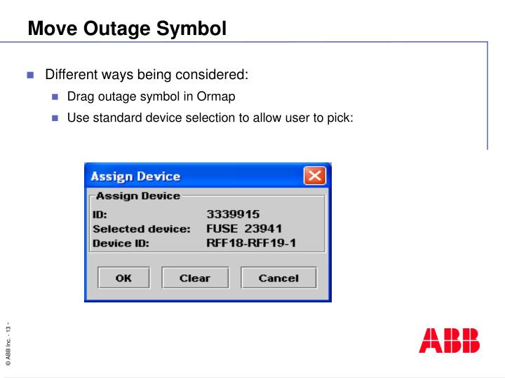 Move Outage Symbol