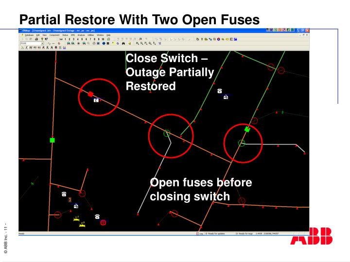 Close Switch – Outage Partially Restored