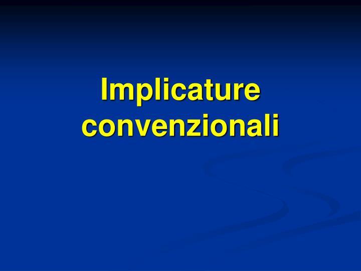 Implicature convenzionali