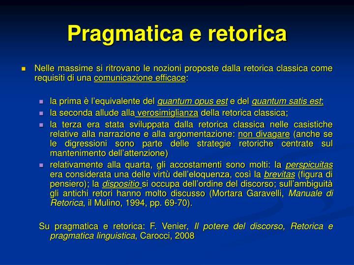 Pragmatica e retorica