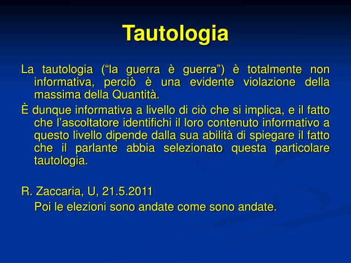 Tautologia