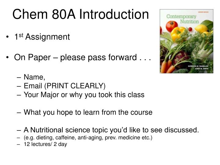 Chem 80a introduction