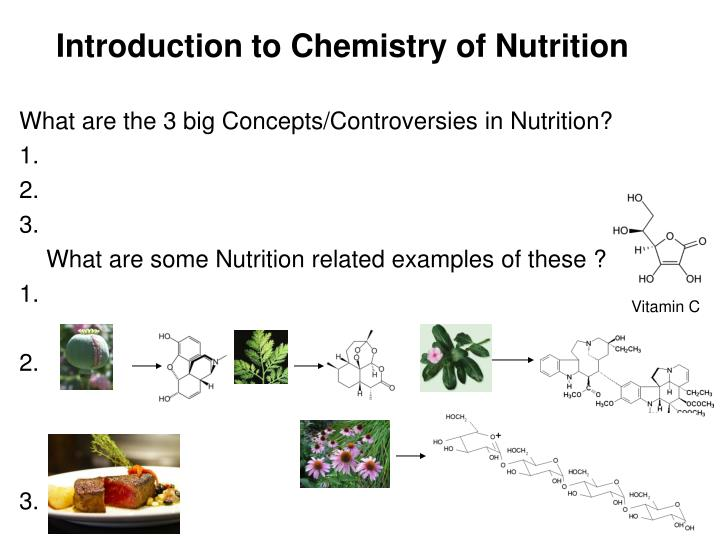 Introduction to Chemistry of Nutrition