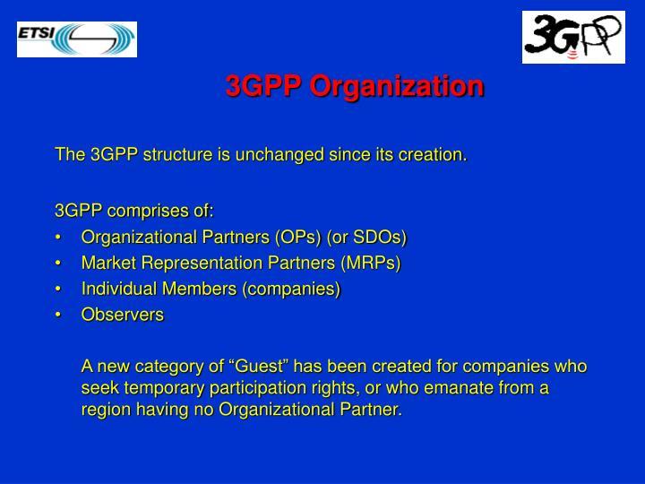 3GPP Organization