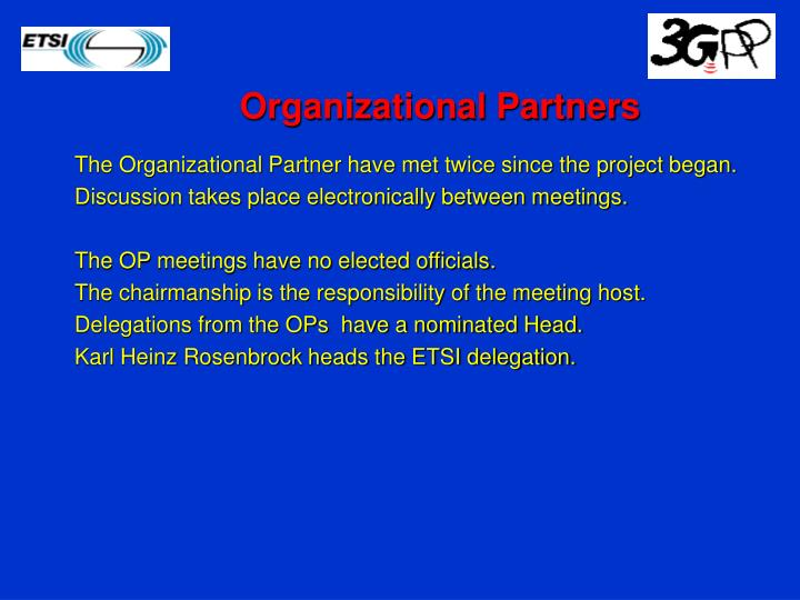 Organizational Partners