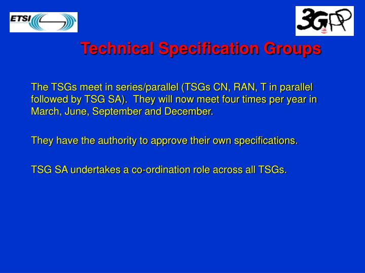 Technical Specification Groups