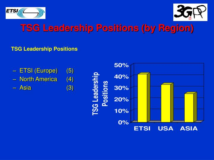 TSG Leadership Positions (by Region)