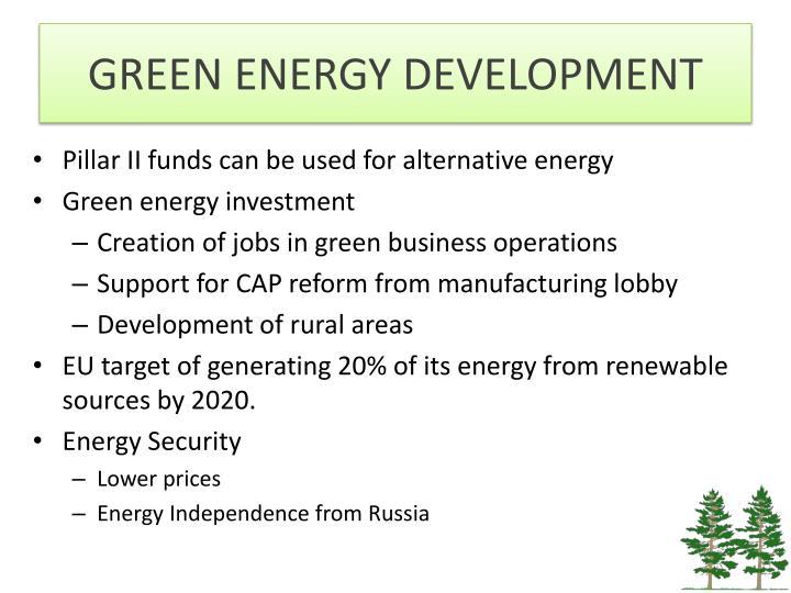 GREEN ENERGY DEVELOPMENT