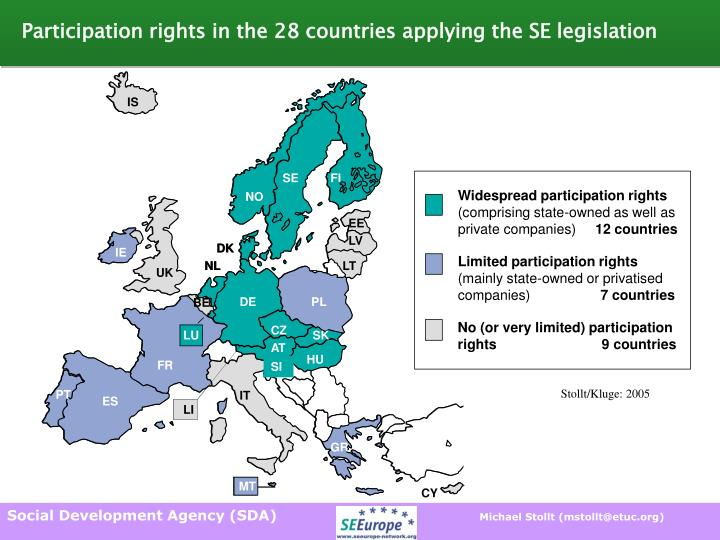 Participation rights in the 28 countries