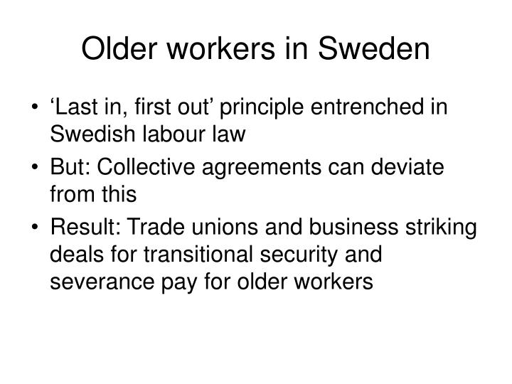 Older workers in Sweden