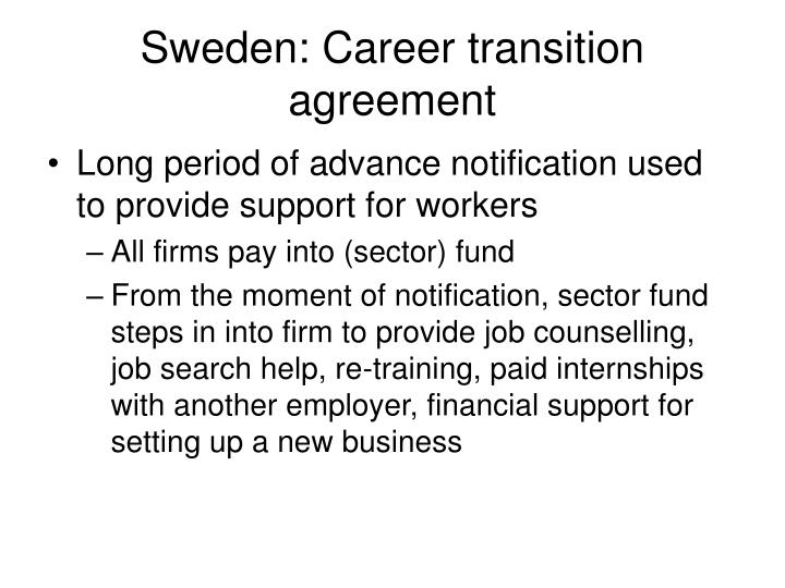 Sweden: Career transition agreement