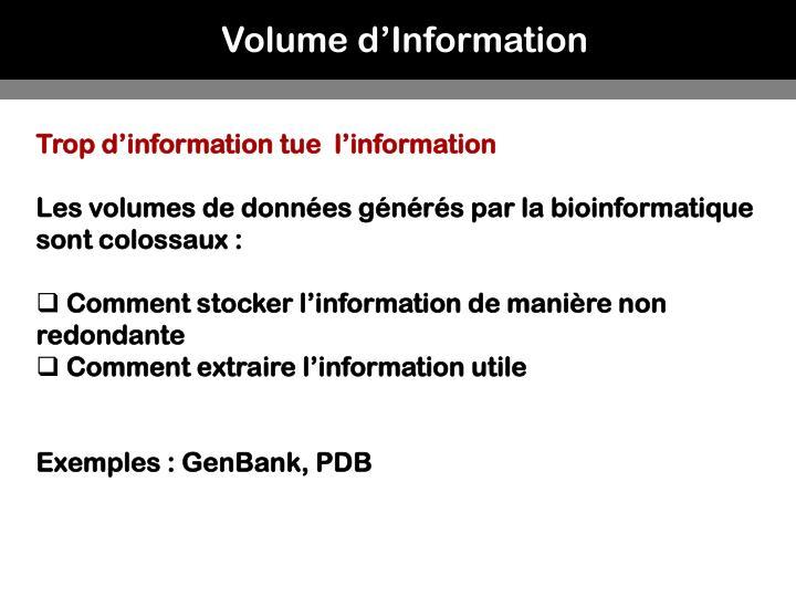 Volume d'Information