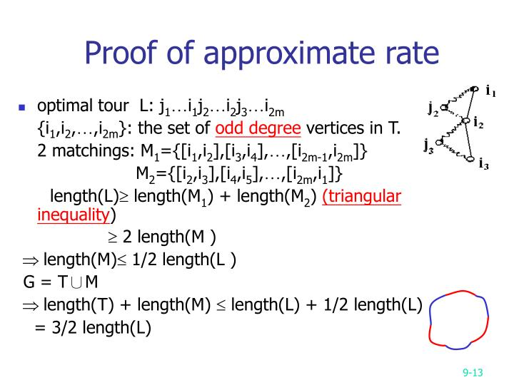 Proof of approximate rate