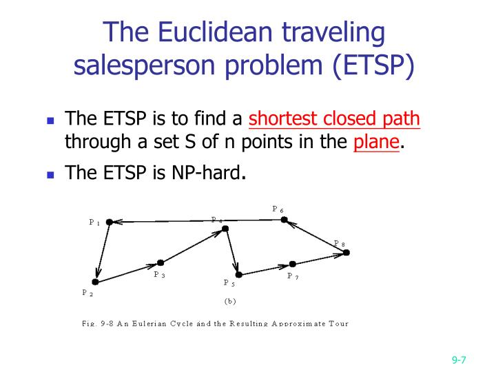 The Euclidean traveling salesperson problem (ETSP)