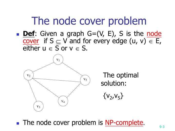 The node cover problem