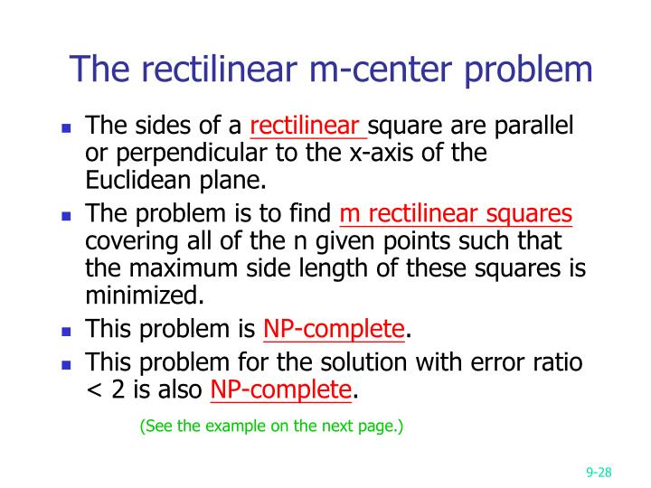 The rectilinear m-center problem