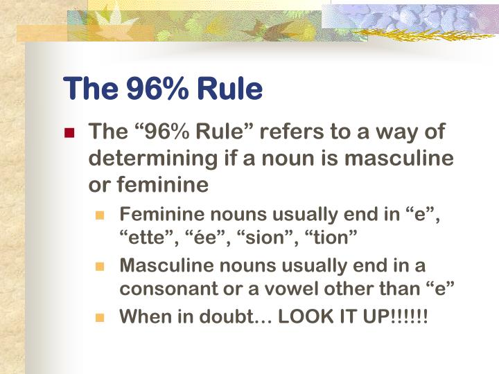 The 96% Rule
