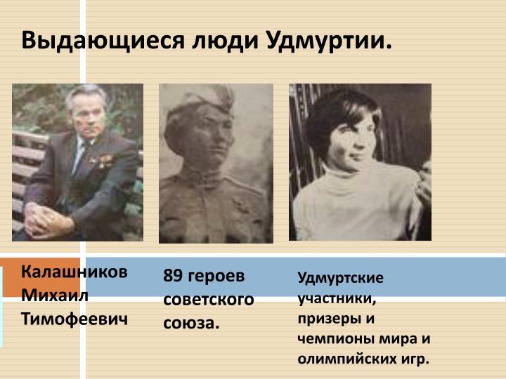 Выдающиеся люди Удмуртии.