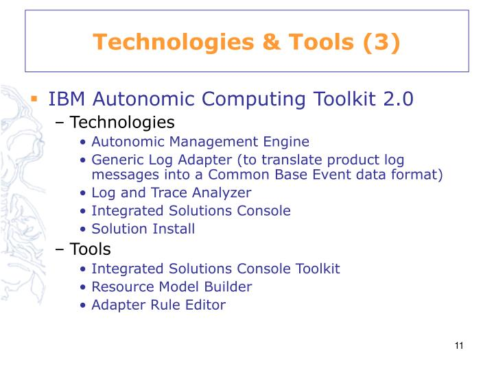 Technologies & Tools (3)