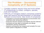 the problem increasing complexity of it systems