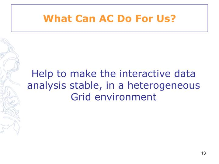 What Can AC Do For Us?