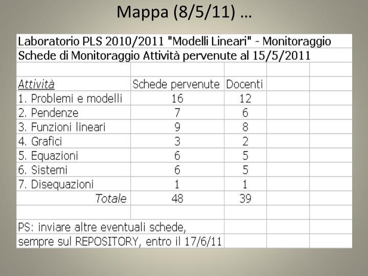 Mappa (8/5/11) …