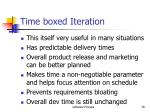 time boxed iteration