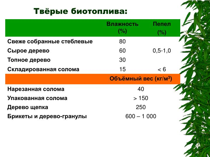 Твёрые биотоплива