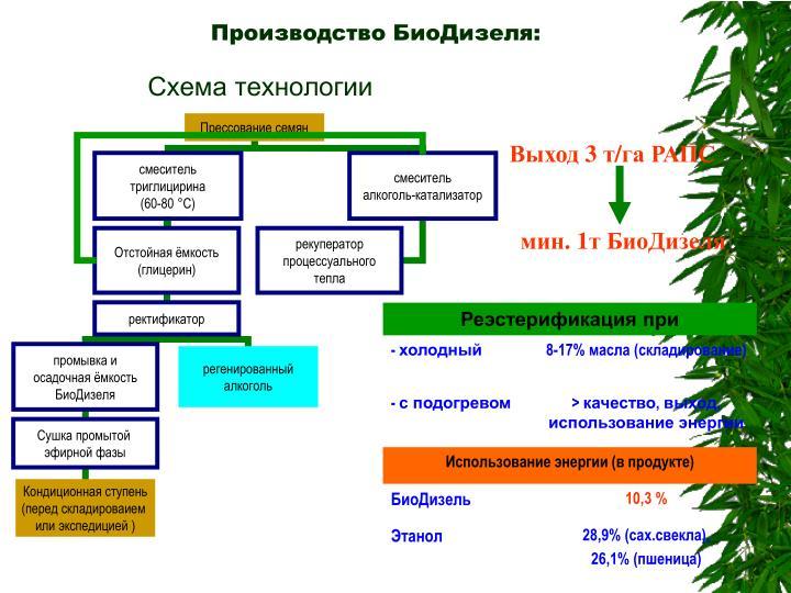 Производство БиоДизеля