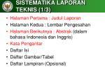sistematika laporan teknis 1 3