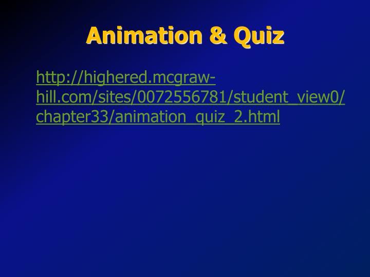 Animation & Quiz