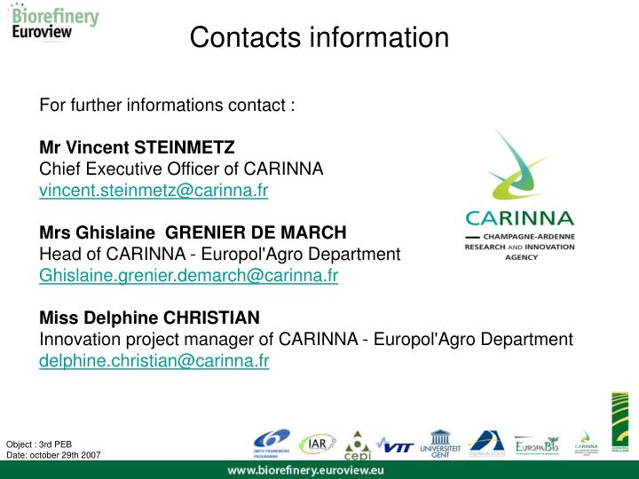 Contacts information