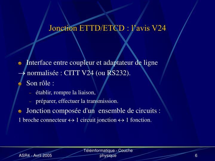 Jonction ETTD/ETCD : l'avis V24