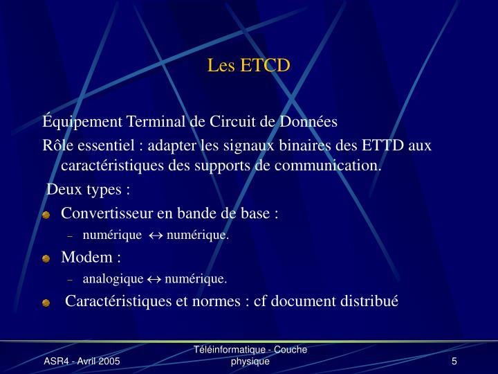 Les ETCD