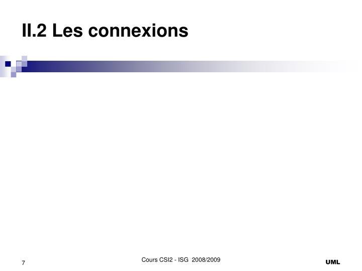 II.2 Les connexions