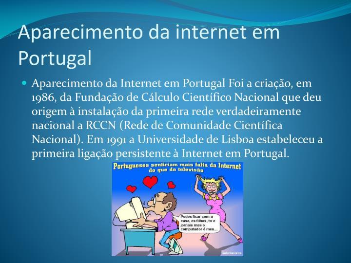 Aparecimento da internet em Portugal