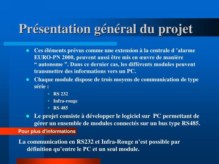 Présentation général du projet