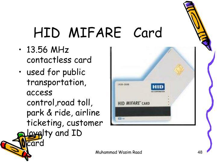 HID  MIFARE   Card