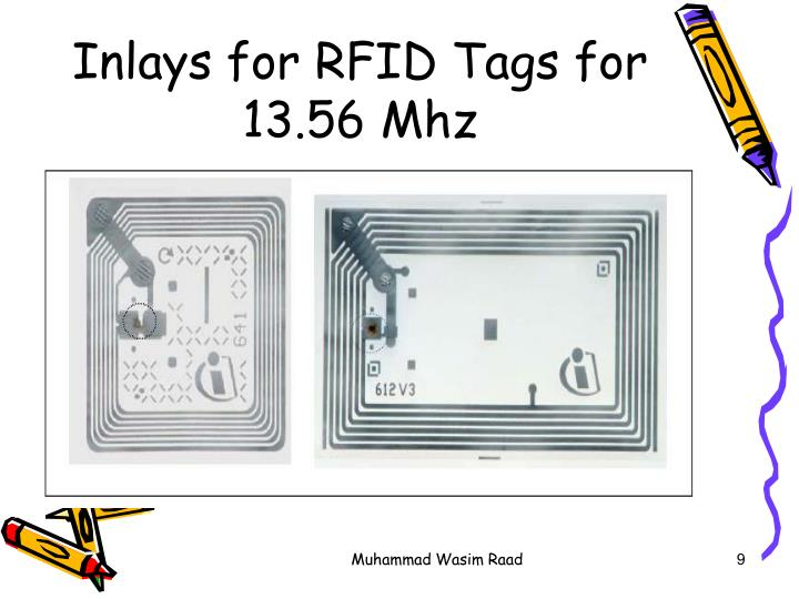 Inlays for RFID Tags for 13.56 Mhz