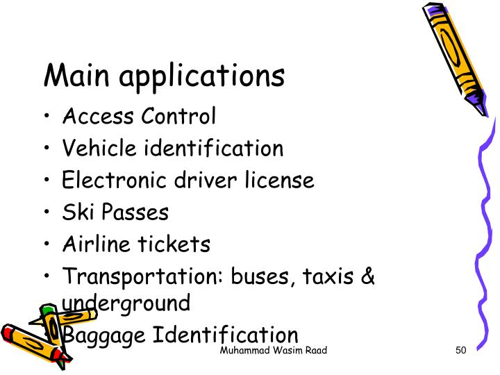 Main applications