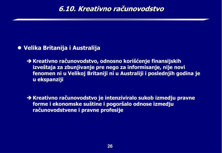 6.10. Kreativno računovodstvo
