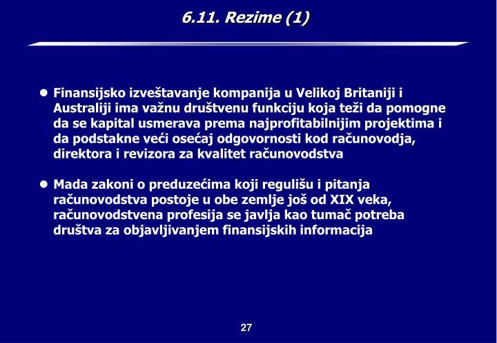 6.11. Rezime (1)