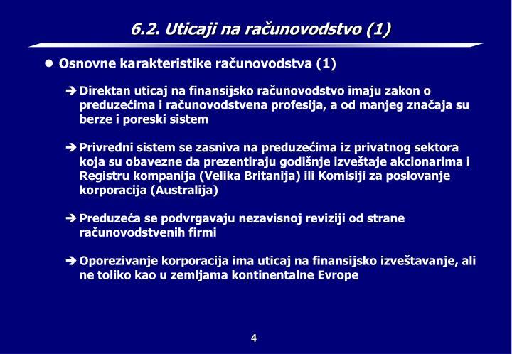 6.2. Uticaji na računovodstvo (1)