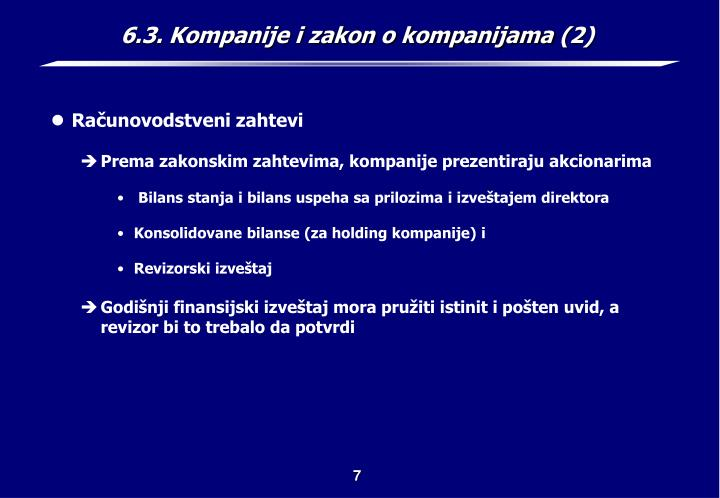 6.3. Kompanije i zakon o kompanijama