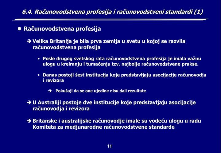 6.4. Računovodstvena profesija i računovodstveni standardi (1)